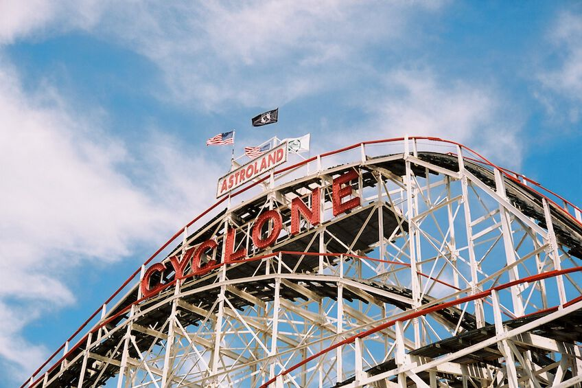 Roller coaster at Coney Island