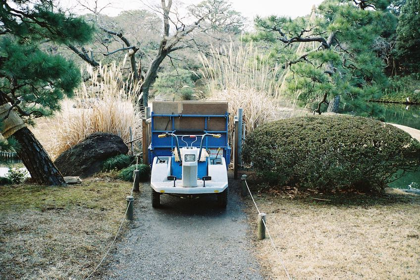 Small vehicle in a park
