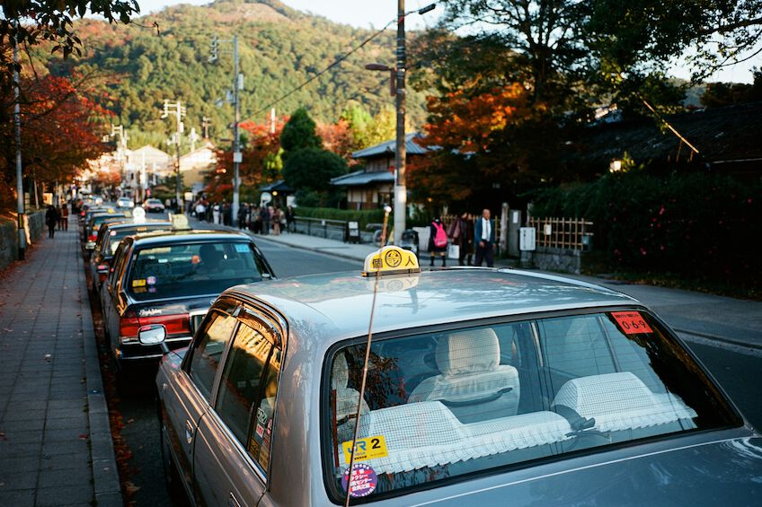 Parking taxis in Kyoto
