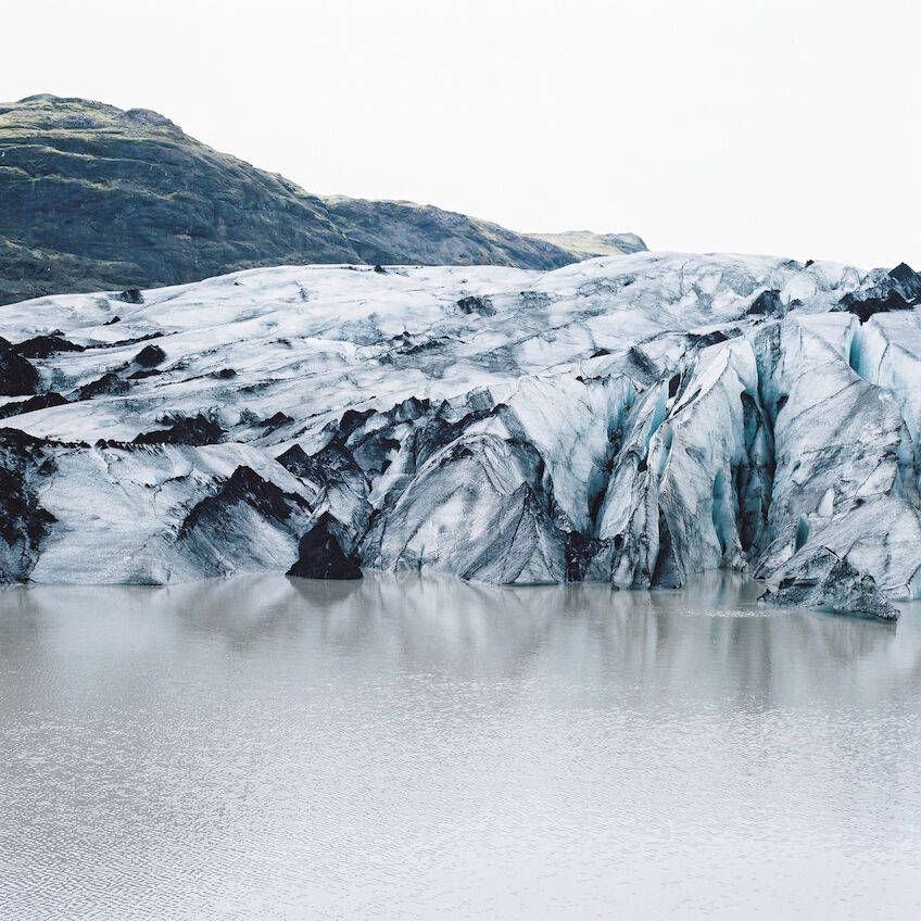 Glacier and water