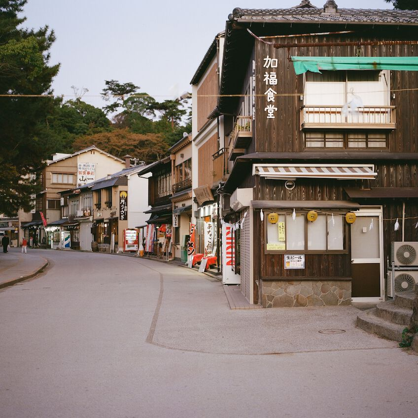 Empty street in Miyajima