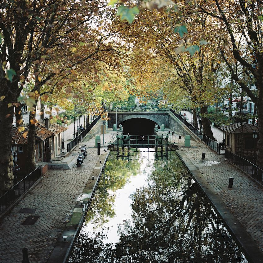 Reflection of trees at Canal Saint Martin