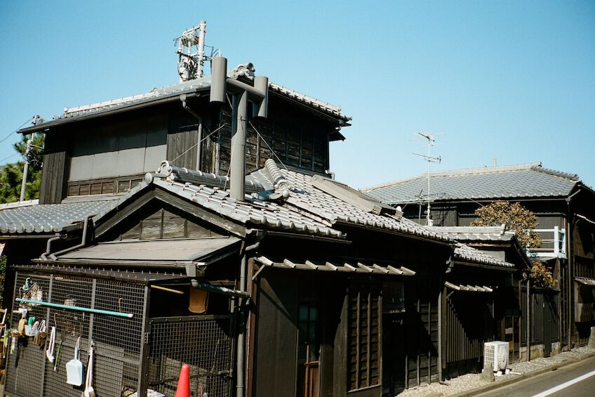 Wooden building in Yanaka