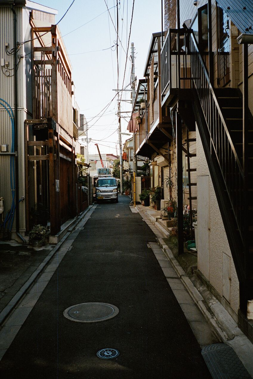 Car parking in a side street